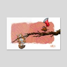 Ahh, Fiddlesticks! - Acrylic by Mike Canas