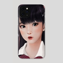 Surprised Komi-san - Phone Case by Jubi
