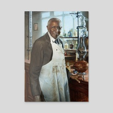 George Washington Carver - Acrylic by Pavel Sokov