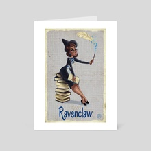 1940's Blue Wizard - Art Card by Savannah Alexandra