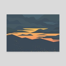 Evening lights - Canvas by Roland Bánrévi