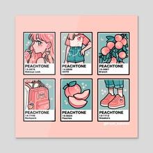 peachtone - Acrylic by fresh_bobatae