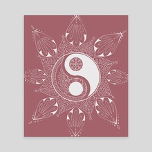 Yin Yang Mandala Design - Canvas by Emii Emilova