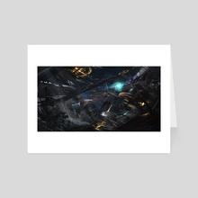 Orbital battle - Art Card by Timi Honkanen
