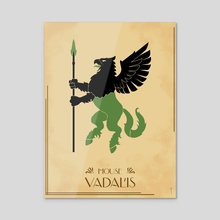 House Vadalis - Acrylic by Claudio Pozas