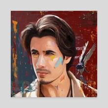 Free spirit | Ali Zafar - Canvas by Alizay A.