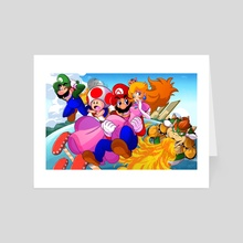 Super Mario 3D World - Art Card by D.J. Kirkland