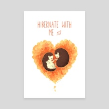 Hibernate with Me - Canvas by Indré Bankauskaité