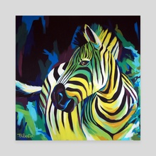Zebra - Canvas by Ellie Benton