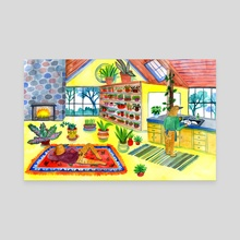 Plant Home - Canvas by Lisa Hanawalt