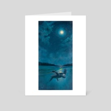 Guided by the Moon - Art Card by Joyful Enriquez