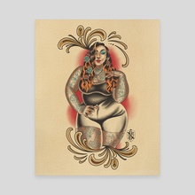 Wife pinup - Canvas by Nick Barbarian