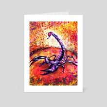 Mars in Scorpio - Art Card by Vitali Pikalevsky