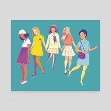 60s Style - Canvas by Beverly Johnson