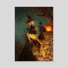 Halloween Witch - Canvas by Keri Ruediger