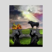 Christian Mythology for Kids - Cain and Abel - Canvas by Chris Zakrzewski