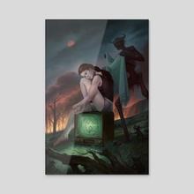 The Night's Pity - Acrylic by Alix Branwyn