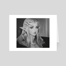 Zelda Portrait - Art Card by Zeronis