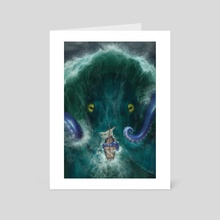 What Lurks Beneath - Art Card by Priscilla Kim