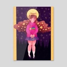 Shooting Star - Acrylic by Andrea Thompson