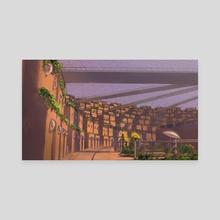 Mars Colony - Canvas by Marieke Douma