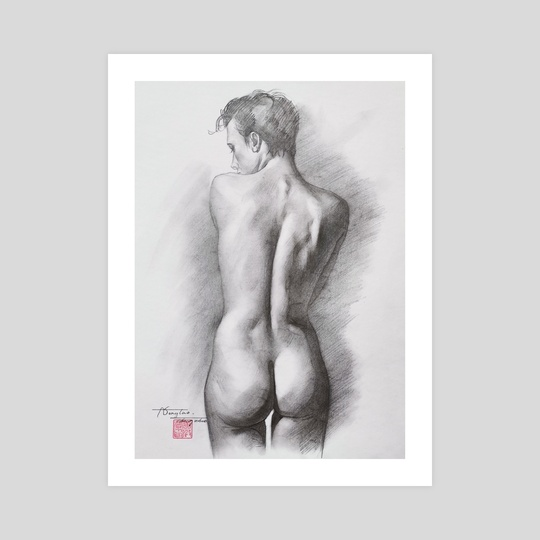 DRAWING-Male nude#210319 by Hongtao Huang