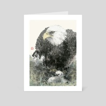 Eagle - 40 - Art Card by River Han