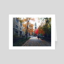 Autumn at Yale - Art Card by Tomas Albergo