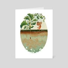 Watermelon Boy I - Art Card by Priscilla Wong
