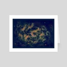 Night flowers - Art Card by Ксения Абраменко