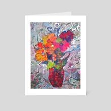 Red Bouquet - Art Card by Kostin Sergey