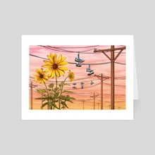 Sunflowers - Art Card by Hannah Agosta