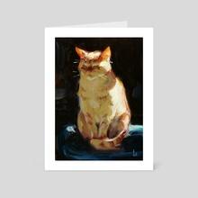 Sun Cat - Art Card by John Larriva