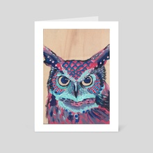 Grandmother Owl - Art Card by Deborah Rose Guterbock