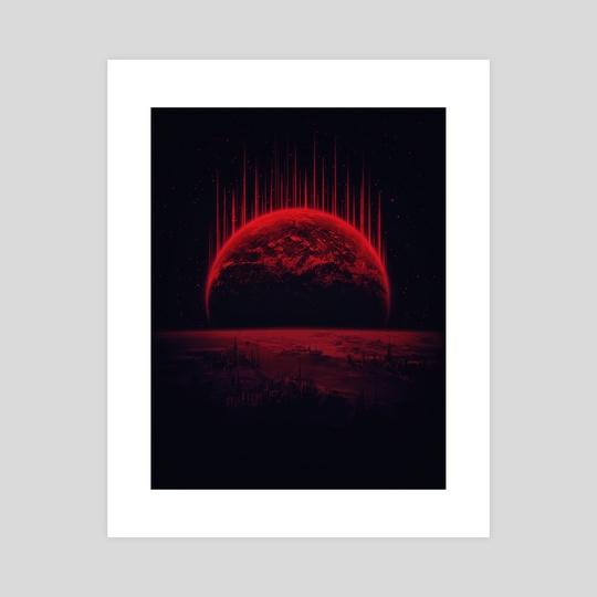 Lost Home! Colosal Future Sci-Fi Deep Space Scene in diabolic Red by Philipp Rietz