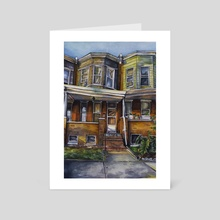 Baltimore Brownstone - Art Card by Amanda Shaffer