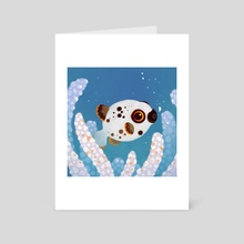 Blackspotted puffer - Art Card by pikaole