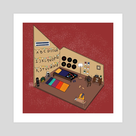 stranger things bedroom design  by alifah imansurya