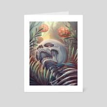 Manic Flowers - Art Card by Lana Ansay