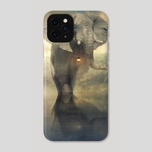 the elephant - Phone Case by Even Liu