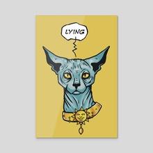 Lying cat - Acrylic by [