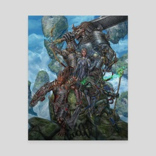 Great Sword Cover - Canvas by Daniel Mitchell