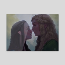 Arwen and Eowyn  - Acrylic by Mali Ware
