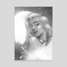 Diva - Canvas by Klaudia Kazecka