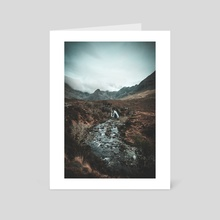 The Fairy Pools - Art Card by Gabby Secomb Flegg