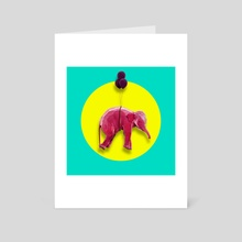PINK ELEPHANT - Art Card by Thorsten Schmitt