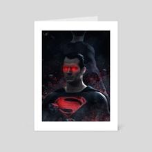 Red Superman - Art Card by Marischa  Fanarts