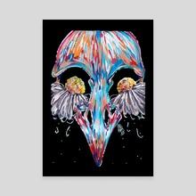 Bird Tears - Canvas by Patricia Pedroso
