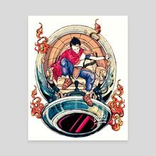 Neo Saiyan Tetsuo - Canvas by Cloudsamu
