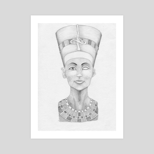 nefretete bust #3 by Krzysztof Wielkopolski